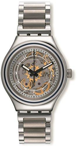 Swatch Herrenuhr Datum Automatisch mit Edelstahlarmband – YAS112G (Swatch Uhren Automatic Herren)