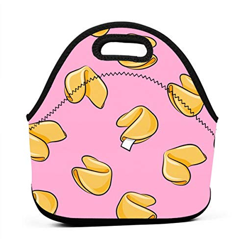 Bag,Fortune Cookies - Pink - Take Out Food - for Kids Adult Thermal Insulated Tote Bags ()