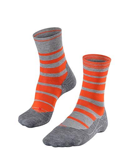FALKE Herren RU4 Stripe Runningsocken, Samba orange, 42-43 Samba Stripe