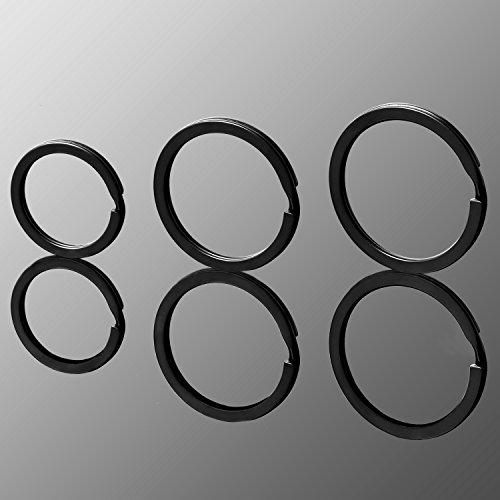 Flat Key Rings Metal Keychain Rings Split Keyrings Flat O Ring for ...
