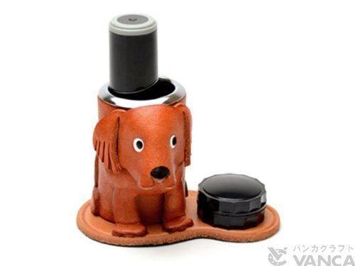 handmade-product-made-in-japan-new-craftsmen-present-leather-seal-stand-golden-retriever-vanca-japan