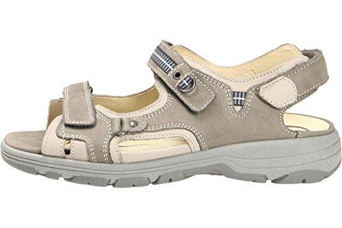 Waldläufer sandalo delle signore Herki 361004-691-395 pietra stein grigio grau