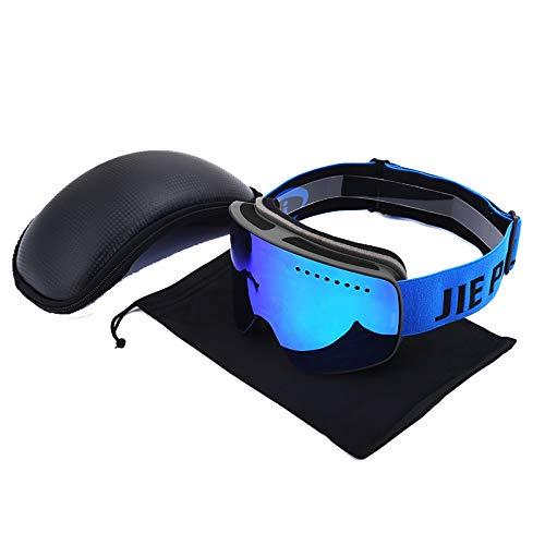 Aienid Radbrille Frauen Schwarz Blau Skibrille Winddichter Augenschutz Size:7X10CM
