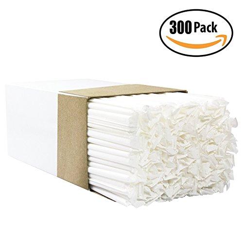 BPA Frei Big, Premium Trinkhalme 300Pack, paper-wrapped, klar, dick, Jumbo-Größe (groß bei 10,25in Hoch. 3in breit). restaurant-grade & Tasche. (300 Count Tasche)