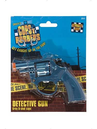 Fancy Ole - Kostüm Accessoires Zubehör Herren Männer Fake Detektiv Cop Revolver Pistole, perfekt für Karneval, Fasching und Fastnacht, ()