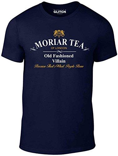 Reality Glitch Herren Moria Tea T-Shirt (Navy Blau, Groß)