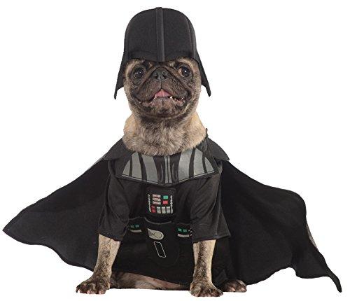 Offiziell Haustier Hund Katze Star Wars Darth Vader Kostüm Kleid Kostüm Outfit Kleidung - S