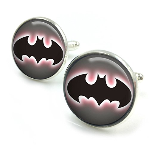 Butterfly N Beez Versilbert Batman Manschettenknöpfe  Batman  Joker  der Joker  DC Comics  Rächer  DC Comics  Geschenke für ihn