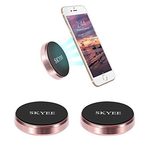 SKYEE [2 Stücke KFZ Handyhalterung Magnet mit 3M Klebersticker für Armaturenbrett, Wand, Universal Handyhalterung Auto Magnet mit 4 Stück Metallplättchen für iPhone X/8/8 Plus Smartphone, Rose Gold