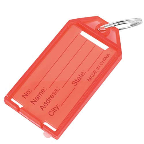 Preisvergleich Produktbild 4 Stücke Kunststoff Schlüsselanhänger Tags ID Identität Tags Rack Name Karte Label NEUE Vier Farben Erhältlich
