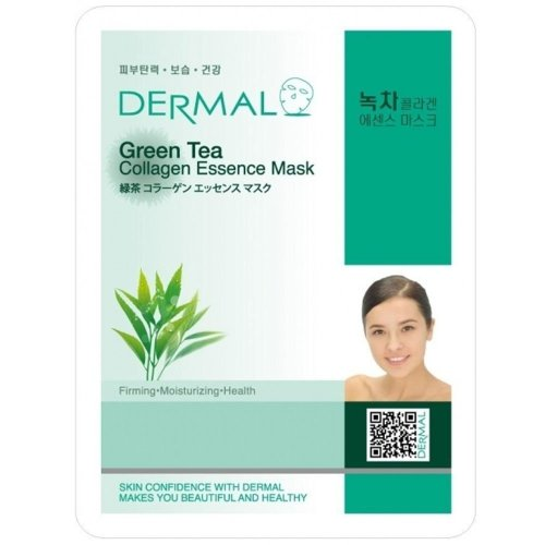 Dermal Korea Collagen Essence Facial Mask Sheet – Green Tea (10 pezzi)