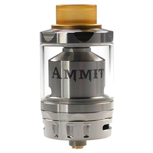 Riccardo Ammit Dual Coil RTA Clearomizer 6 ml, Durchmesser 25 mm, GeekVape Verdampfer für e-Zigarette, Selbstwickler, silber, 1er Pack