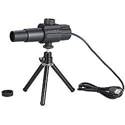KKmoon USB Numérique Telescope 2MP 70X Zooming Monoculaire avec trépied Focus réglable pour télescopique Intelligent Système de Surveillance,Noir