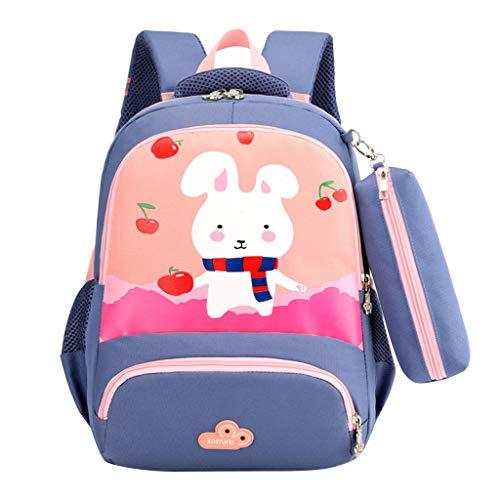 AIni Rucksack Kinder Baby Mädchen Jungen Kinder Karikatur Kaninchen Tier Rucksack Kleinkind Schultasche Kinderrucksäcke Rucksäck Orange