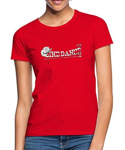 Spreadshirt Line Dance Frauen T-Shirt, L (40), Rot