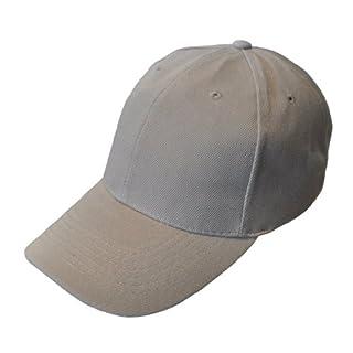 Plain Colour Adjustable Baseball Cap (Grey)