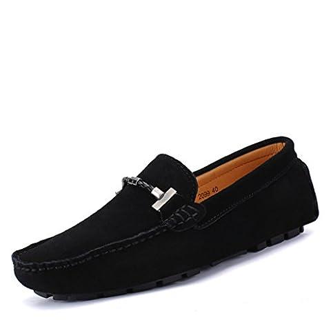 Eagsouni® Mocassins Hommes daim Penny Loafers Casual Bateau Chaussures de Ville Flats