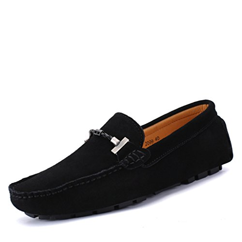 Eagsouni® Mens Suede Leather Casual Loafers Smart Moccasin Shoes Slip On Driving Boat Flat Shoes