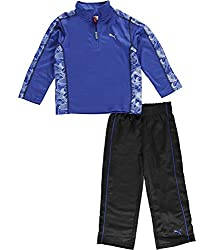 "Puma Puma Little Boys' Toddler ""Swift Arrow"" 2 - Piece Outfit - Comp Blue, 2t 2t - Competition Blue"