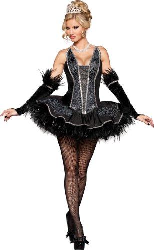 sexy Black Swan Kostüm - schwarzer Schwan, Gr. M (Swan Kostüme)