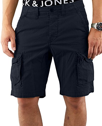 JACK & JONES Herren Shorts JJIPRESTON CARGO SH AKM 216- Gr. 54 (Herstellergröße: XL), Navy Blau (Navy Blazer) (Shorts Fashion Herren Cargo)