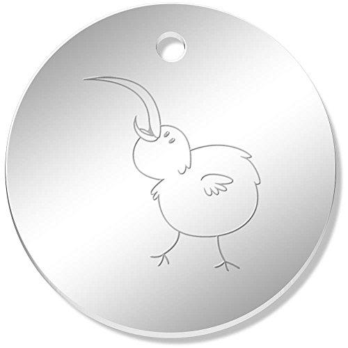 11 x 34mm 'Glücklicher Kiwi-Vogel' Gespiegelte Anhänger / Schmuckanhänger (PN00025757) (Kiwi-vogel-anhänger)