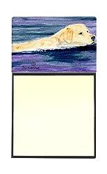Carolines Treasures SS8814SN Golden Retriever Refillable Sticky Note Holder or Postit Note Dispenser, 3.25 by 5.5, Multicolor