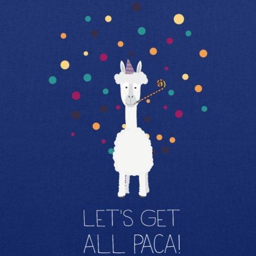 Spreadshirt Let's Get All Paca Alpaka Stoffbeutel Royalblau