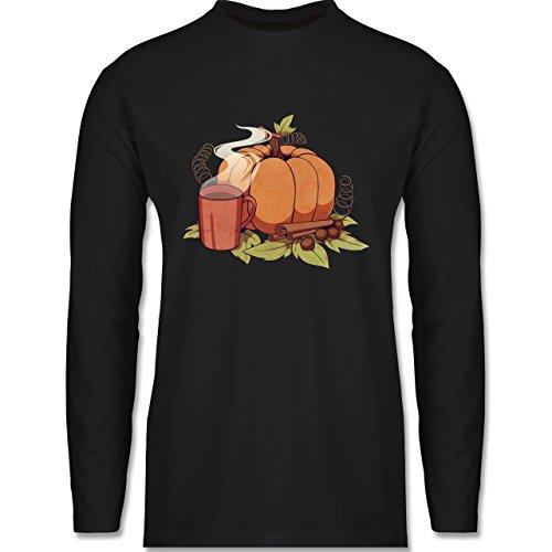 Shirtracer Statement Shirts - Pumpkin Spice - Herren Langarmshirt Schwarz