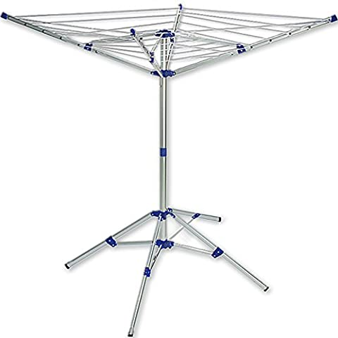 Portable washing line standing outdoor clothes airer dryer rack travel folding laundry airer 4 arm
