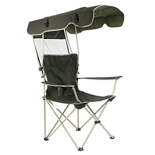 DTTN CampingstüHle Mit Baldachin Indoor Strand Klapp Leicht Aufenthaltsraum-Wagen Stuhl, Halten 150Kg, Schwarz (Baldachin Wagen)