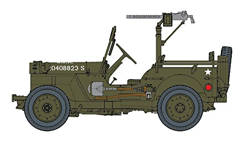 Dragon U.S. 1/4 Ton 4x4 Truck w/.30 cal Machine Gun Jeep 1:6 Model Kit Bausatz 75050