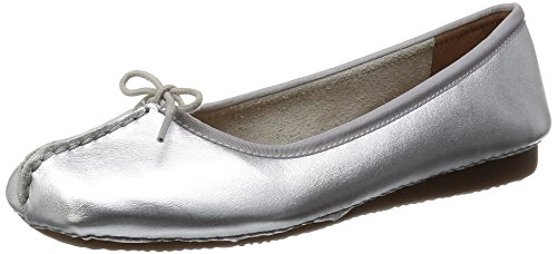 Clarks - Freckle Ice, Mocassino da donna, Grigio (Grau (Silver Leather)), 41.5