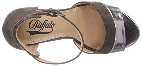 Buffalo - 312339, Sandali  da donna Grigio (Grau (PEWTER 01))