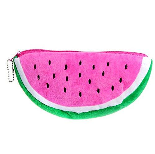 Cdet Mäppchen Pen Schutzhülle Wassermelone Flanell Stifte Tasche Handtasche Kleine Gegenstände / Schreibwaren / Kosmetik / Andern / Karte Beutel Makeup Tasche (Rosa) (Flanell Tasche,)