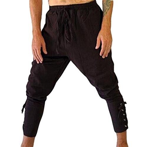 Beiläufige Hosen der Männer Athletische Hosen-Hosen-Mittelalterliche Hosen und Wikinger mit Seitlicher Spitze Viking Trousers