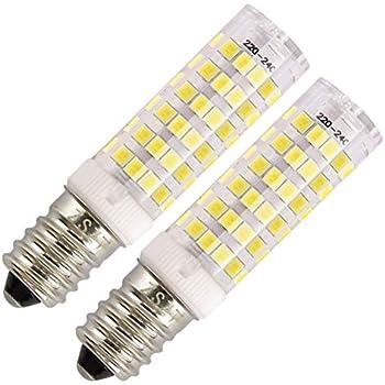 E14 bombilla LED 7W 500LM, ZSZT rosca Edison pequeña (SES), equivalente a bombilla halógena de 50W, Blanco frío 6000K, 2 Piezas