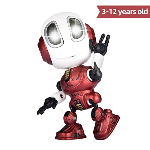 FUTURE ROBOT Recording Talking Robot for Kids Children Toys,Education  Robots Toys LED Eyes&Touch control Best Birthday Gifts for 3 Year Old  Up(RED)