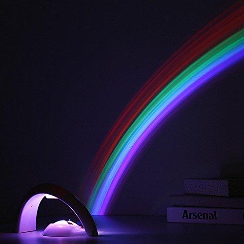 Luz LED, colorida luz LED arcoíris para bebés, niños, luz nocturna para niños, luz de ambiente