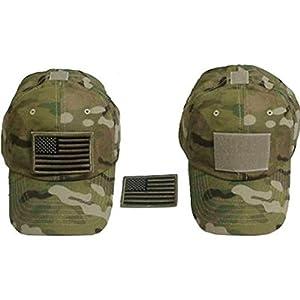Tactics de plafond de la Force spéciale Multicam Hat w/American Flag Patch