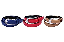 TOOTA BUCKLE BELT SET OF 3 PC. by it & get free complimentary belt