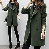 Weiwei Winter Warm Woolen Womens Casual Solide Langarm Jacke Mantel