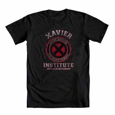 X-Men Xavier Institute For Higher Learning Mutatis Mutandis - Camiseta para Adulto (Talla Mediana), Color Negro