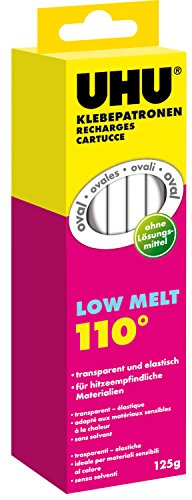 UHU 48620 Klebepatronen (Low Melt 110°, 125 g, transparent, elastisch)