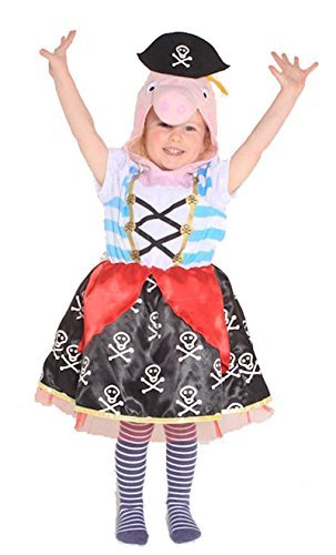 PEPPA PIG PIRATE CHILDS TABARD COSTUME KIDS GIRLS AGE 2-5 YEARS by VMC
