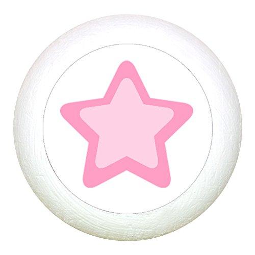 Traum Kind Möbelknopf Möbelgriff Möbelknauf Maedchen rosa pink weiß blau Massivholz Buche - Kinder Kinderzimmer Stern rosa pink maritim weiss
