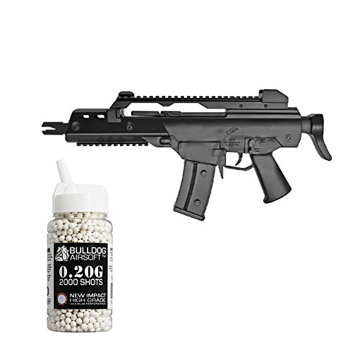 Double Eagle Softair Federdruck Gewehr G36 Stil, 0.5 Joules, Gratis Bulldog Airsoft 2000 0.20g Bbs (Double Eagle Softair)