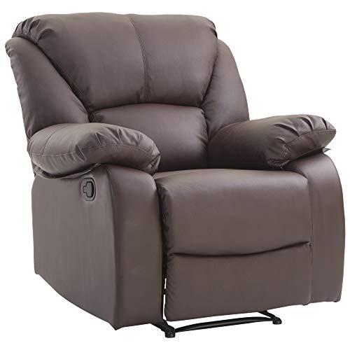 Homcom Relaxsessel Verstellbar Liegesessel Sessel Fernsehsessel Wohnzimmer mit Liegefunktion Braun