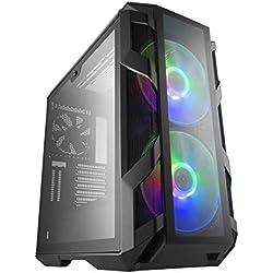 Cooler master mastercase h500m Midi-Tower Gris - Caja de Ordenador (Midi-Tower, pc, Vidrio, Malla, Acero, Gris, ATX,eatx,Micro ATX,Mini-ATX, Juego)