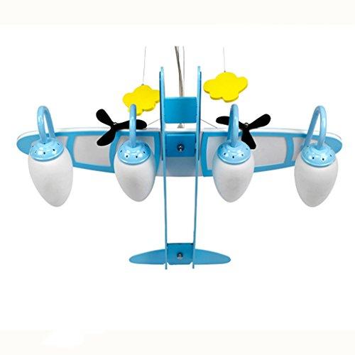 Guo Kinderzimmer-Lichter Jungen-Schlafzimmer-Flugzeug-Lichter Kronleuchter-Pers5onlichkeit-kreative Legierungs-Lampen E14 Lampen-Hafen - 2